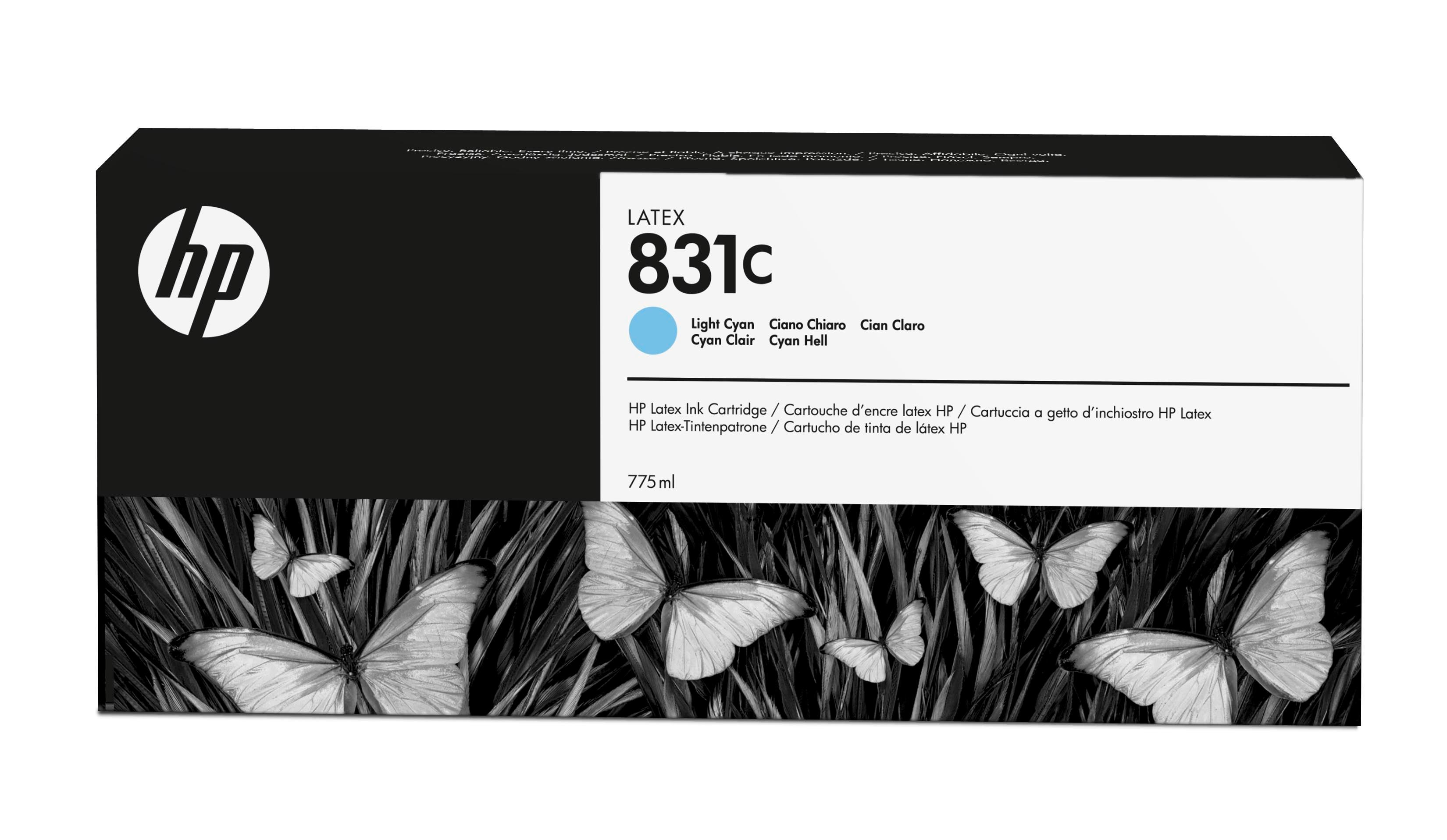 HP 831C 775-ml Light Cyan Latex Ink Cartridge CZ698A