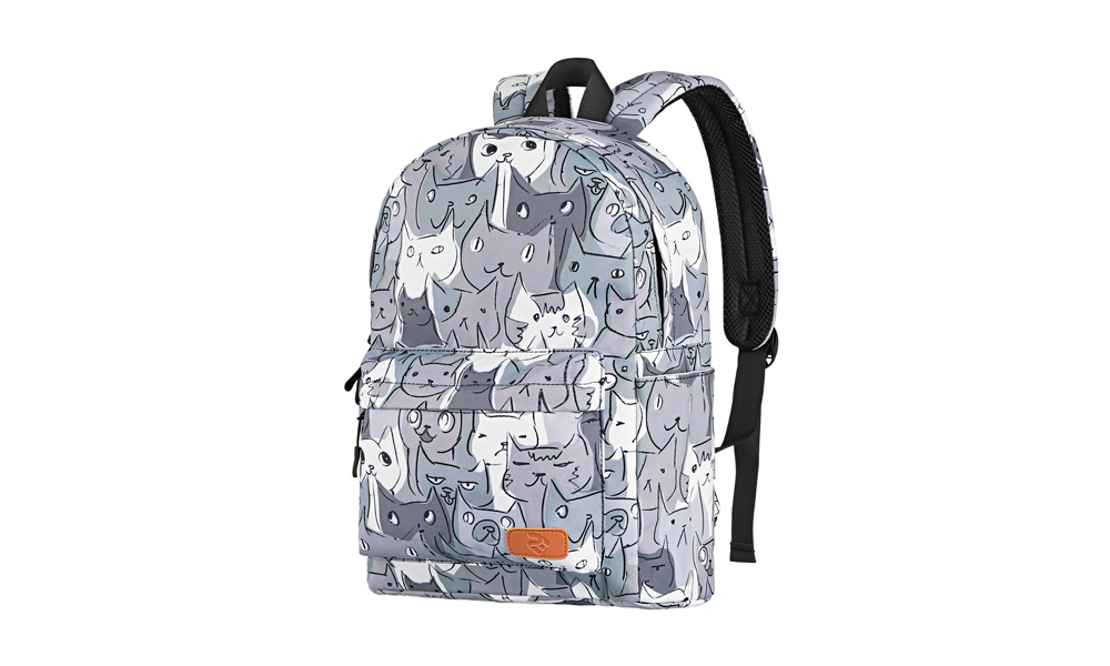 LAPTOP BACKPACK 2E BPT6114GC, TEENSPACK CATS, GREY 2E-BPT6114GC