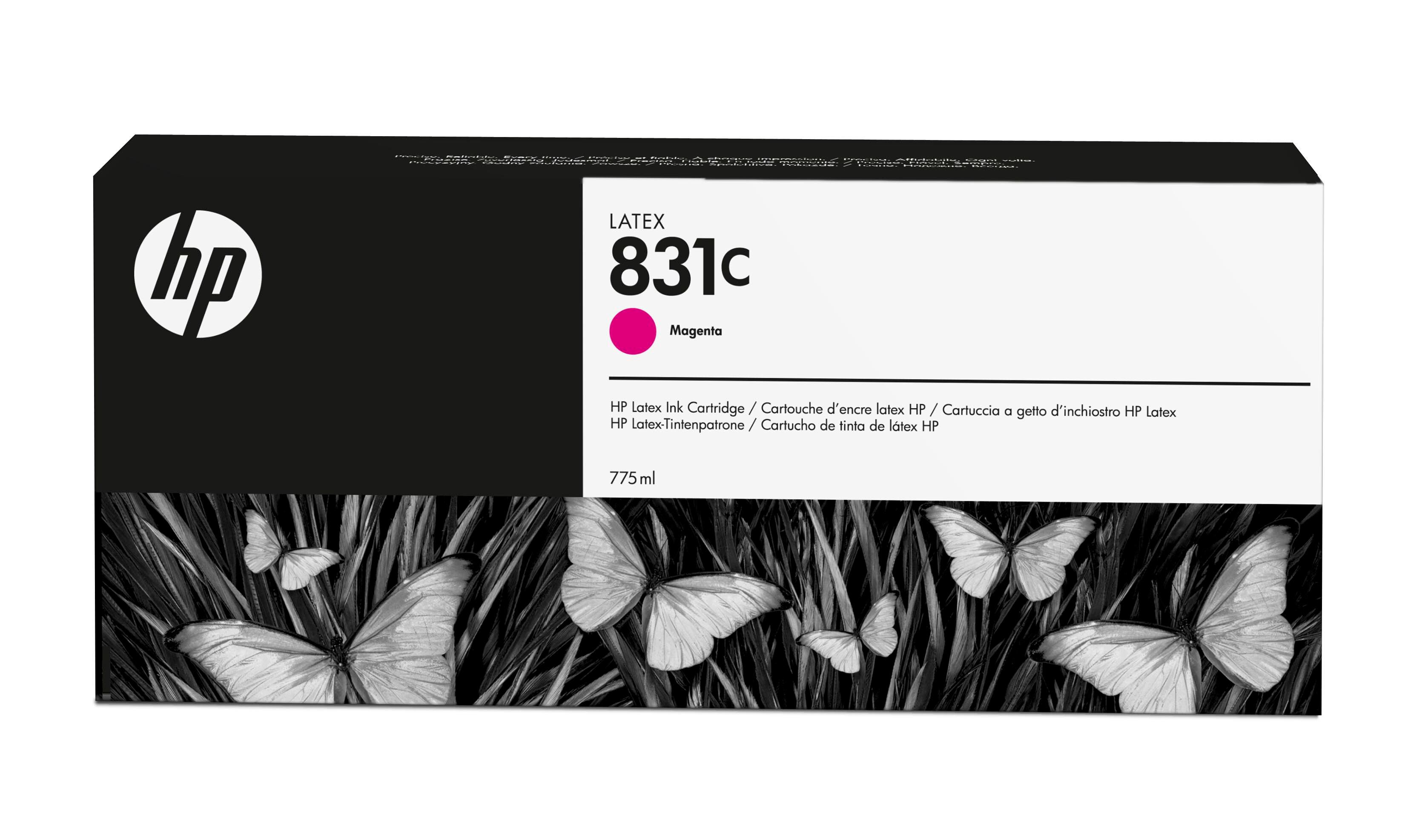 HP 831C 775-ml Magenta Latex Ink Cartridge CZ696A