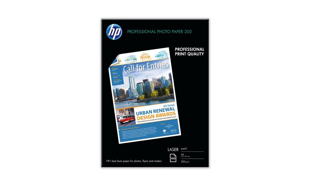 HP Professional Matt Laser Photo Paper-100 sht/A4/210 x 297 mm Q6550A