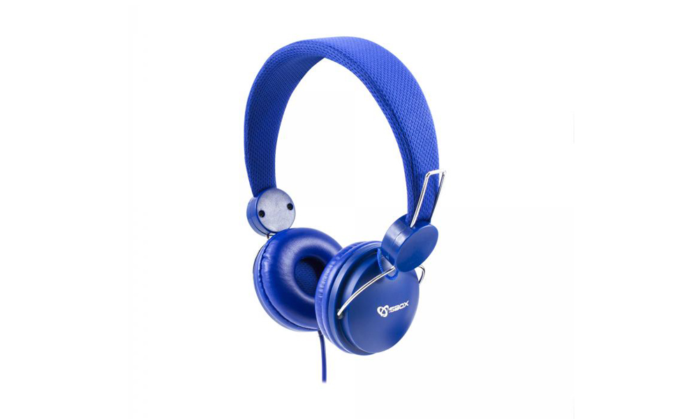 SBOX Headphone HS-736 Cable: 1,8m Blue