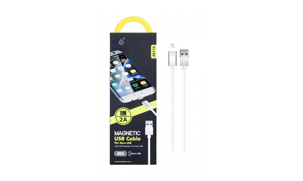 Micro USB AS116 white 2100031